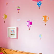 air balloon wall stickers for kids ethicalrket fabristickA repositionable hot air balloon wall stickers