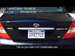 2003 toyota camry xle for sale 2003 toyota camry xle v6 for sale in sacramento ca 95811 at