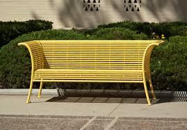 file yellow metal bench jpg wikimedia commons