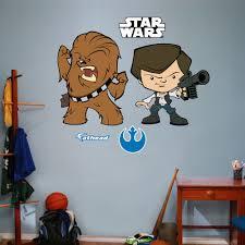 fathead realbig star wars han solo and chewbacca pop duo wall realbig star wars han solo and chewbacca pop duo wall decal
