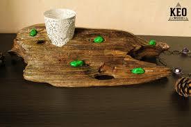 driftwood home decor driftwood candle holder driftwood tea light holder gift home