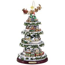 thomas kinkade halloween the thomas kinkade animated christmas tree hammacher schlemmer