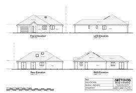 hartfell homes ettrick bungalow new build elegant unique design artists impression floor house building plans uk home design ideas