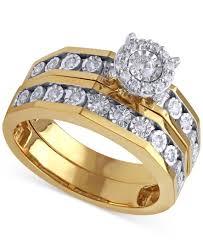 beautiful beginnings halo engagement ring and wedding band
