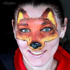 desided to paint a fox zootopia inspired facepainting