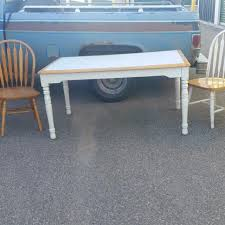 4 feet tall table find more white wood table and 4 chairs table 5 feet long 3 feet