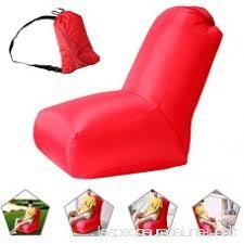 transport canapé chaise gonflable air lazy canapé étanche avec un sac de transport