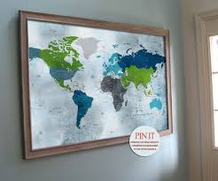 Map With Pins Framed World Map With Pins Scrapsofme Me