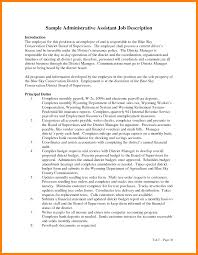 Resume Job Description by Administration Job Description Template Sample Administrative
