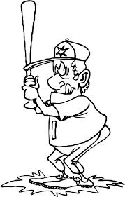 big man playing baseball coloring wecoloringpage