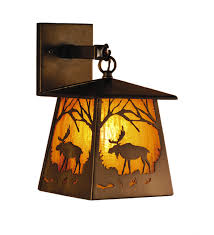 Lantern Wall Sconce Rustic Wall Sconces Moose Lantern Wall Sconce Black Forest Decor