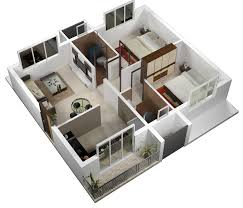 2 Bhk Home Design Layout by Home Design Plans For 400 Sq Ft 3d Kerala And Floor Inspirations