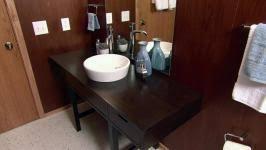 refurbished bathroom vanity video hgtv