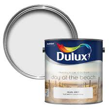 dulux travels in colour pearl grey matt emulsion paint 2 5l