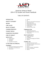 2016 2017 es student and parent handbook by american of