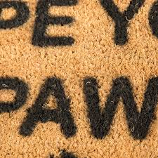 Please Wipe Your Paws Coir Buy Artsy Doormats Wipe Your Paws Door Mat Amara