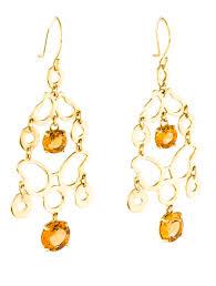 Citrine Chandelier Earrings 18k Citrine Chandelier Earrings Earrings Earri34246 The Realreal