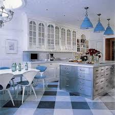 kitchen modern cottage blue kitchen cabinets and decorations