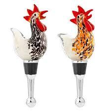 unique wine bottles for sale glass rooster wine bottle stopper set kitchen dining