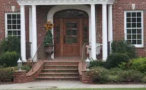 exterior delightful image of front porch decoration using brick