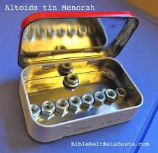 travel menorah altoids tin menorah bible belt balabusta