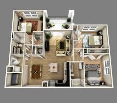 house plans 3 bedroom 25 more 3 bedroom 3d floor plans house 2 bath expansive luxihome