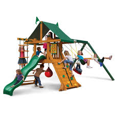 outdoor gorilla playsets costco swing set swing and slide