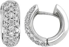 white gold huggie earrings 14k white gold 1 ct diamond pave huggie earrings ade1813