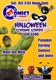 upcoming events halloween comicfest