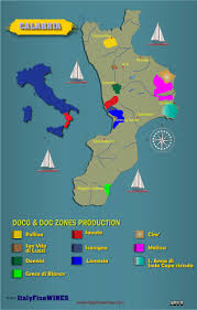 Map Of Calabria Italy by Wine Map Calabria Italy With Details Of Doc And Docg Appellations