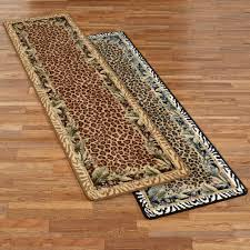 Leopard Print Runner Rug Jungle Safari Animal Print Area Rug