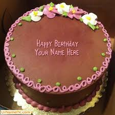 write name on birthday cake flowers happy birthday cake with name