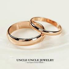 simple wedding ring unisex ring gold plated width 5mm 2mm classic simple glossy
