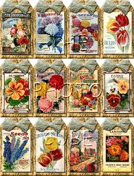 flower seed packets flower seed packets vintage hang gift tags craft