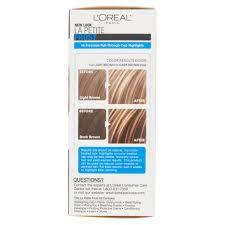 hair frosting for dark hair l oréal paris le petite frost cap hair highlights for shorter hair