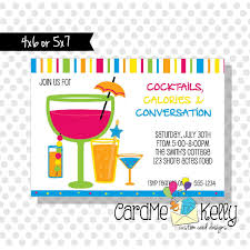 printable summer cocktail drinks beverages party invitation