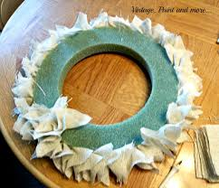 styrofoam wreath diy farmhouse burlap wreath vintage paint and more