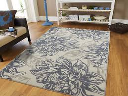 Modern Rug 8x10 Luxury Gray Area Rugs 8x10 Chrysanthemum Flower Carpet 5x8 Modern