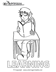 learning coloring page a free educational coloring printable