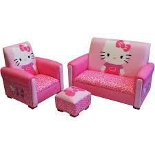 hello kitty bows toddler 3 piece sofa chair and ottoman set