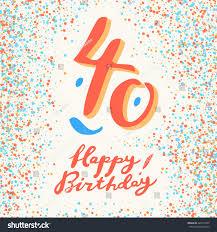 40 years happy birthday card stock vector 420737935 shutterstock