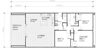 A Three Bedroom House Plan 3 Bedroom Transportable Home 105sqm
