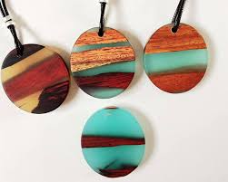 wood jewelry necklace images Resin wood necklace epoxy resin mom gift wood resin jpg