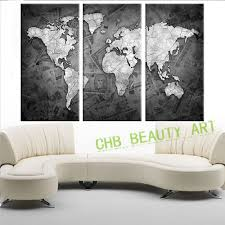 Canvas Map Of The World by Popular Wall Art Canvas Map Buy Cheap Wall Art Canvas Map Lots