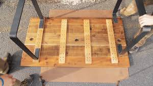 attaching legs to a table easy reclaimed wood dining table in 4 hours steel table legs by