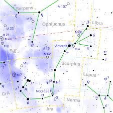 Declination Map Antares Alpha Scorpii Constellation Guide