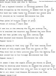 Latex Cv Example Country Southern And Bluegrass Gospel Song Palms Of Victory