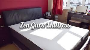 zen bedrooms memory foam mattress review zen guru memory foam mattress youtube