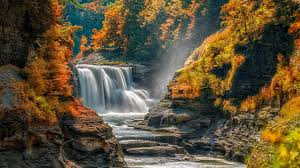 Letchworth State Park Map by Autumn In The Letchworth State Park Castile New York Wallpaper