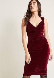 lady love song velvet dress in merlot modcloth